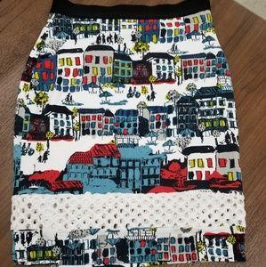 Anthropologie brand skirt city scene medium